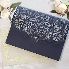 Elegant Invitation Cards Amazon Com 50 Cards Pack Elegant Invitation Cards Laser Cut