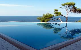 infinity pool backyard. Posh View Of Infinity Pool Amazing Edge Backyard