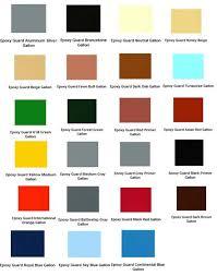 Appliance Epoxy Color Chart Epoxy Guard Heavy Duty 1 Part