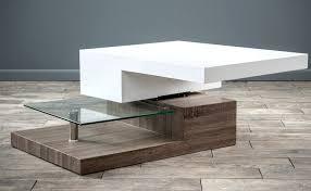 modern swivel coffee table