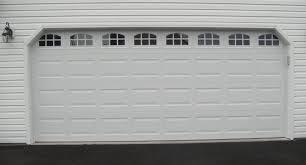 18x8 black garage door double glass