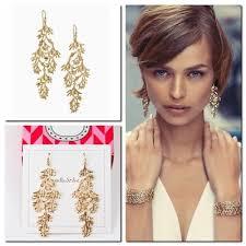 stella and dot grace chandeliers gold earrings