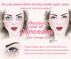 makeup tip eyes look larger with concealer