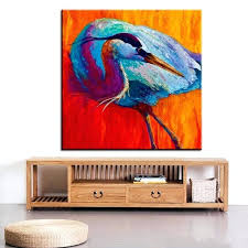 heron wall art large size printing oil painting great blue heron wall painting steampunk wall art heron wall art