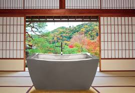 two person japanese soaking tub with custom overflow 42 x 72