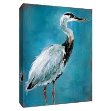 great blue heron i canvas wall art 9 155169 the home depot