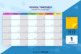 Weekly Timetable Planner School Timetable For Children Weekly Planner Vector Free