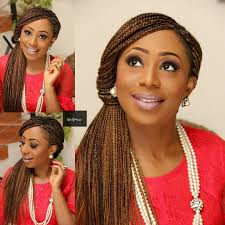 Box Braids Hair Style dakore akande dishes trendy unique box braids updo wedding 5312 by wearticles.com