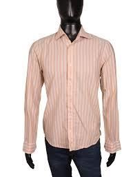 Boss Jeans Size Chart Details About Hugo Boss Mens Shirt Tailored Stripes Orange Size M