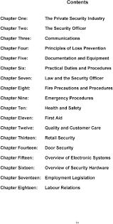 security skills security institute of a manual for the documentation and equipment practical duties and procedures law and the security officer fire precautions and procedures