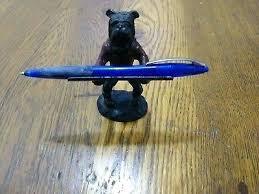 Julius Caesar Pencil Holder Enchanting Julius Caesar Pencil Holder Vintage Cast Iron Bulldog Pen Holder