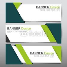 Business Banner Design Collection Horizontal Business Banner Set Vector Templates Clean