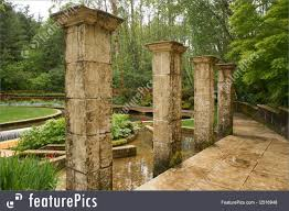 garden pillars. Delighful Garden Historical Architecture These Stone Pillars Stand Garden Around A Water  In Oregon On Garden Pillars