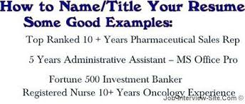 Resume title examples and get inspiration to create a good resume 13