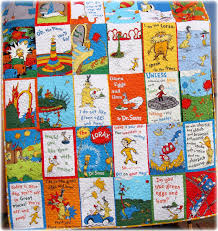 Dr Seuss Baby Quilt Green Eggs and Ham, The Lorax and Oh the ... & Dr Seuss Baby Quilt Green Eggs and Ham, The Lorax and Oh the Places youll  Go, gender neutral MADE to ORDER letters backing Adamdwight.com