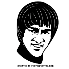 Actor Bruce Lee Vector Portrait Free Vector Image In Ai And Eps
