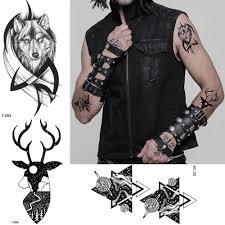 жесткая временная татуировка крутая картина для тела для мужчин