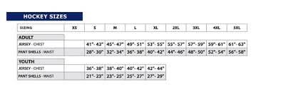 K1 Hockey Jersey Size Chart Size Charts Concrete Pond