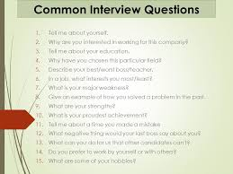 best things to say in an interview common interview questions 1 tell me about yourself 2 why are you