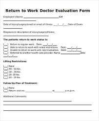 Doctors Note Release To Work Return To Work Note Sample 6 Examples In Word Pdf
