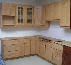 Kitchen Cabinets, Light Brown Rectangle Modern Wooden Ready Made Cabinets  Home Depot Varnished Ideas For