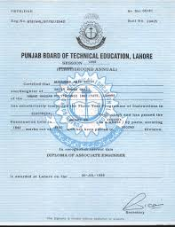 diploma of associate engineer dae mabidnazir educational documents diploma of associate engineer dae