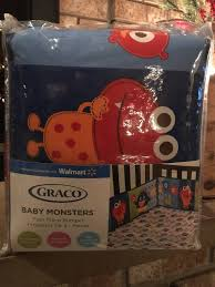upc 789887333431 image for graco baby monsters four piece per protector for baby crib