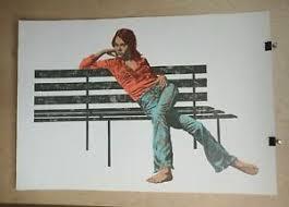 Woman on Bench Bertha Vincent Walls 10/295 Vintage Serigraph | eBay