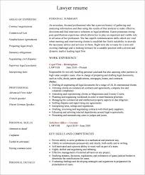 Lawyer Resume Template Word