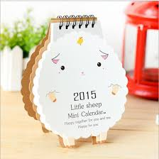 Free Shipping 2pcs 2015 Korean Stationery Kawaii Sheep Calendar Cute