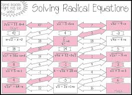 adding and subtracting radicalessions worksheet equations maze advanced solving square multiplying