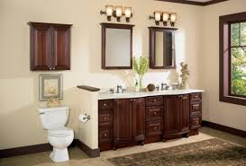 over bathroom cabinet lighting. Modern Bathroom Storage Cabinet With Old Cherry Wall Cabinet, Bistro Sconce Lamp Over Lighting R