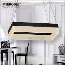 meerosee whole high quality led pendant light modern rectangle pendant suspension light fixture gold or black color for dining room md5062 led lighting