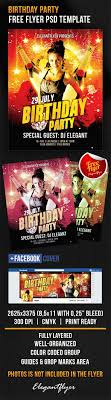 Birthday Flyers Template Birthday Party Free Flyer PSD Template By ElegantFlyer 12