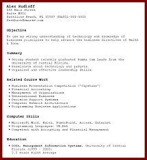 Resume With No Work Experience Template Cv Year Sample College