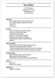 Examples Of A College Resume Sample Of Resume Student Example Of A