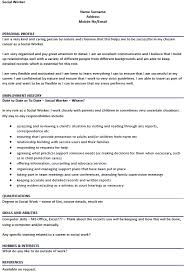 Social Worker Resume Example Fascinating Social Worker CV Example Icoverorguk