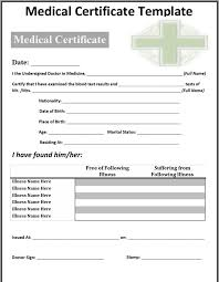 21 Free Medical Certificate Template Word Excel Formats