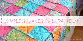 Easy Baby Quilt Pattern Using Fat Quarters Easy Scrap Quilt ... & Easy Baby Quilt Pattern Using Fat Quarters Easy Scrap Quilt Patterns Free  Simple Squares Rag Quilt Adamdwight.com