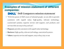mission statement examples business mission statement for resume mission vision values statements how to