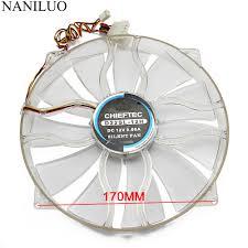 D Light Fan Us 12 0 Naniluo New D22sl 12h 12v 0 6a 22cm 22030 Chassis Fan Quiet Side Of The Chassis Big Fan 22cm Diameter Blue Light Fan In Fans Cooling From