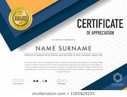 Certification Template Stylish Certificate Appreciation Award Design Template Stock Vector