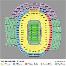 Symbolic Lambeau Field Seating Chart Section 131 Lambeau