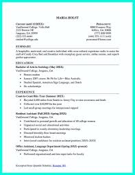Nice Cool Sample Of College Graduate Resume With No Experience