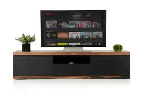 norse modern black  wood tv stand