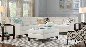 lr rm reina white sec Reina Point White Leather 4 Pc Sectional $gallery page 1145$
