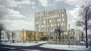 exterior office design. Photoreal Architectural Exterior Rendering: Office Design View01