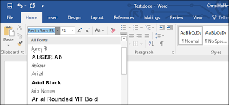 micresoft word how to embed fonts in a microsoft word document