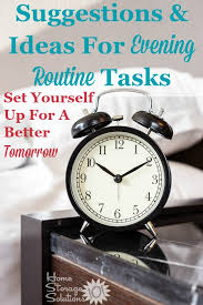 Routine Chart Ideas Create An Evening Routine To Make Tomorrow Better