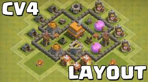 Clash Of Clans Cv4 Layout Youtube
